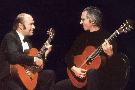 With Julian Bream in 1979